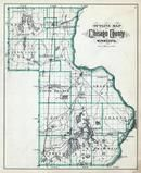 Chisago County Outline Map, Chisago County 1888